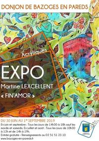 Affiche expo Martine Lexcelleent