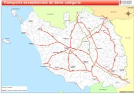 Carte Vendee Routiere.Itineraires Types Et Cartes Cd 85