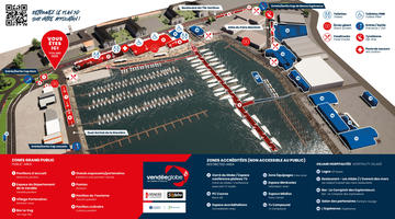 Plan du village du Vendée Globe 2020-2021